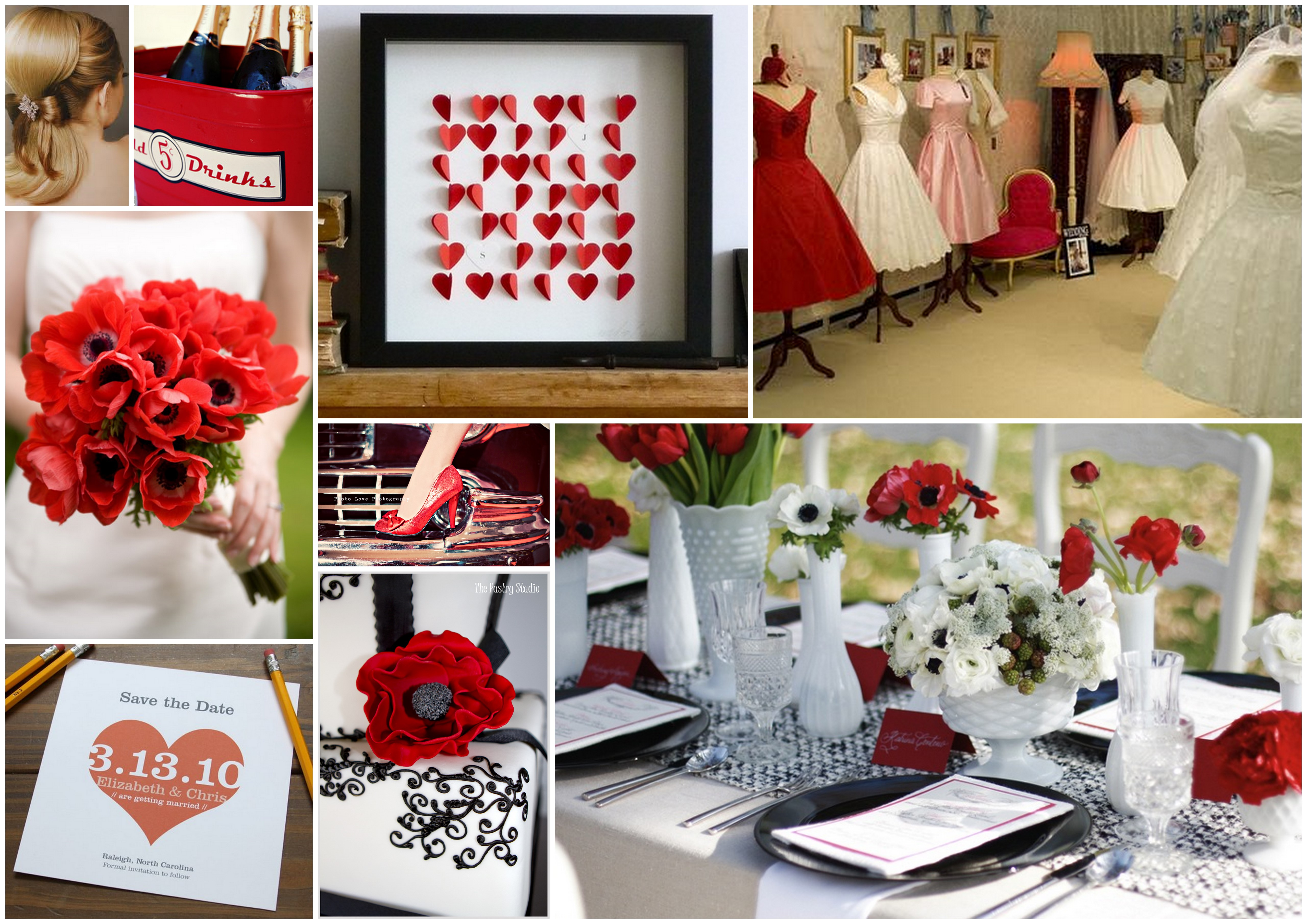 Vintage Red And Black Inspiration Board