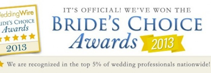 "Our Bride's Choice Award ""Press Release"" from Wedding Wire!"